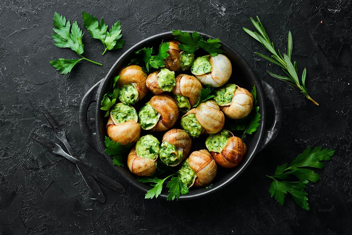 """escargots,De,Bourgogne"",-,Baked,Snails,With,Garlic,,Butter,And"